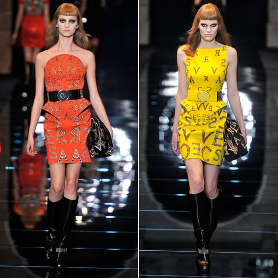 These Autumn 2012 runway looks literally have Versace written all over them!