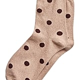 Metallic Polka-Dot Crew Sock