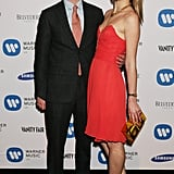 Amber Atherton and George Birch at the Warner Music Group's post-Brit Awards party in London.