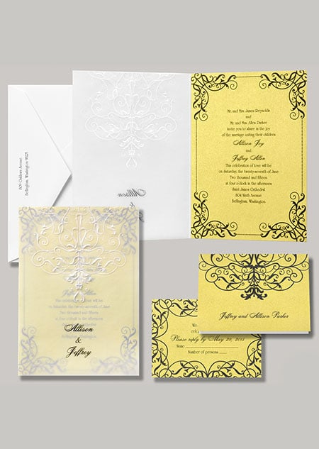 """Belle stationery, titled """"Love's Transformation,"""" is just as grand as the Beast's castle."""