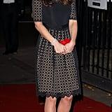Kate wearing Temperley in November 2013.
