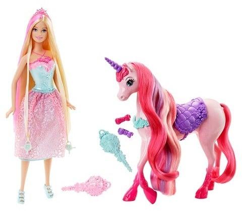 Barbie Princess and Unicorn Gift Set