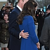 Prince William Touching Kate Middleton's Back Pictures