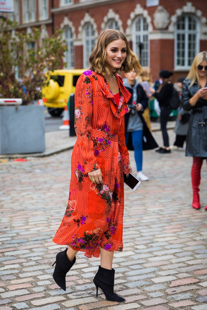 Olivia Palermo knows how to make a memorable street style moment in a gorgeous L.K. Bennett x Preen dress.