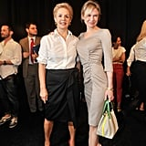 Renée Zellweger and Carolina Herrera posed together backstage.
