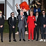Katy Perry and a Friend as Hillary and Bill Clinton and Orlando Bloom as Donald Trump in 2016