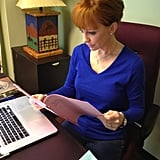 Reba McEntire browsed a script in her office. Source: Reba McEntire on WhoSay