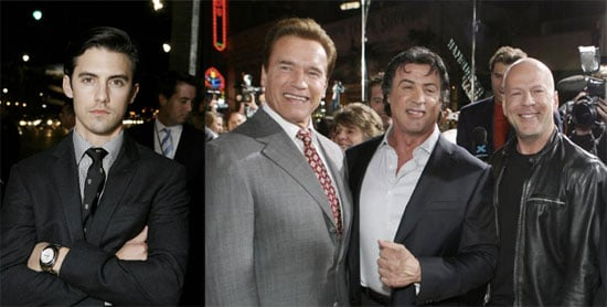 Arnold, Bruce and Sly Come out For Rocky