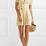 Faithfull The Brand Vanelli Tie-Detailed Polka-Dot Crepe Mini Dress