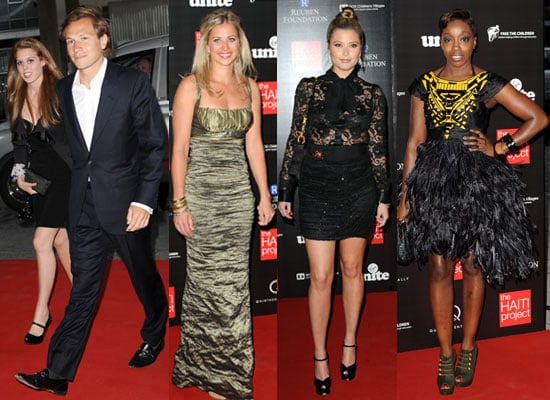 Pictures of Princess Beatrice, Dave Clark, Holly Vallance, Estelle and Holly Branson at Reuben Foundation Haiti Fundraiser