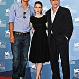 Winona Ryder, Michael Shannon, and Ray Liotta posed together at the premiere of Ice Man.