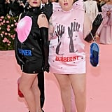 Jemima Kirke and Lena Dunham at the 2019 Met Gala
