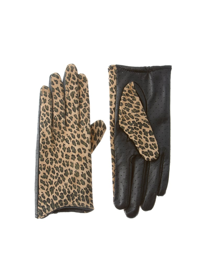 We like our Winter wear with a little personality and these leopard-print gloves deliver that, but are a subtle enough accent to still pair well with almost anything we own.  Asos Leather Leopard Cut Away Lady Gloves ($32)