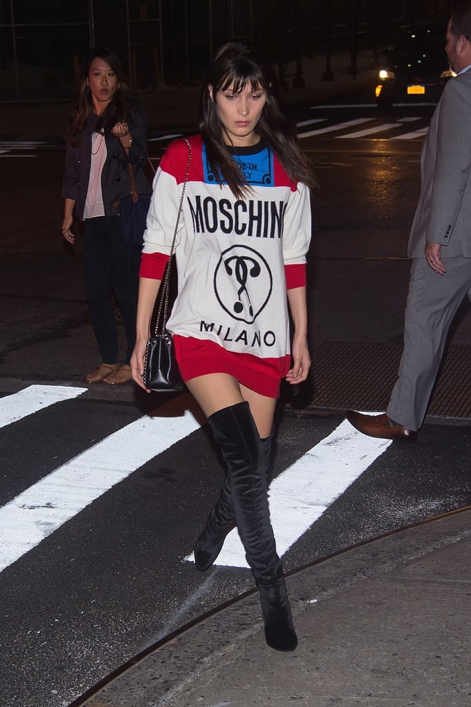 Bella Hadid Moschino Jumper at Kate Upton's Birthday 2016