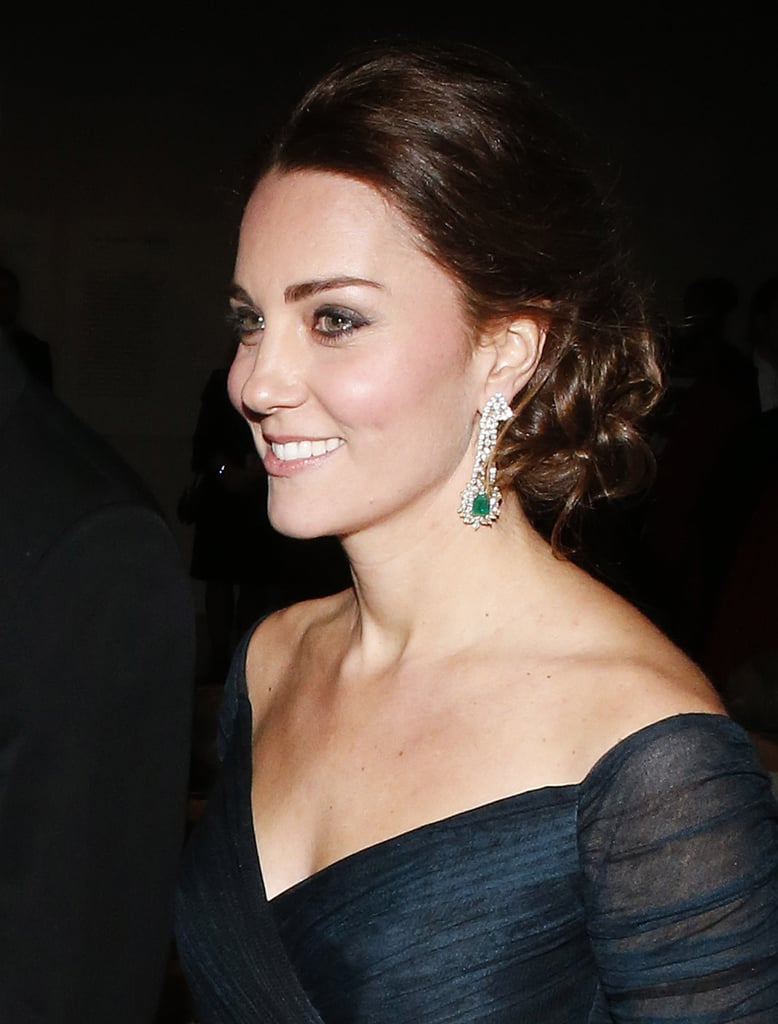 The Duchess of Cambridge's Stunning Updo Makes Us Want to Bow Down