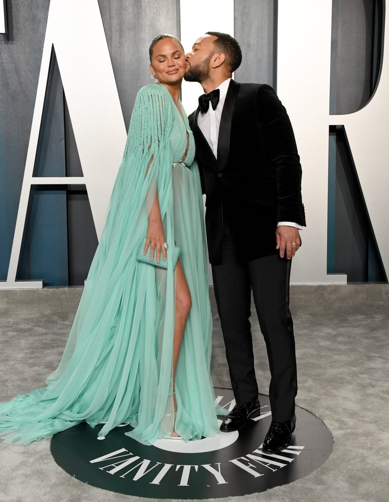 Chrissy Teigen and John Legend at the Vanity Fair Oscars Afterparty 2020