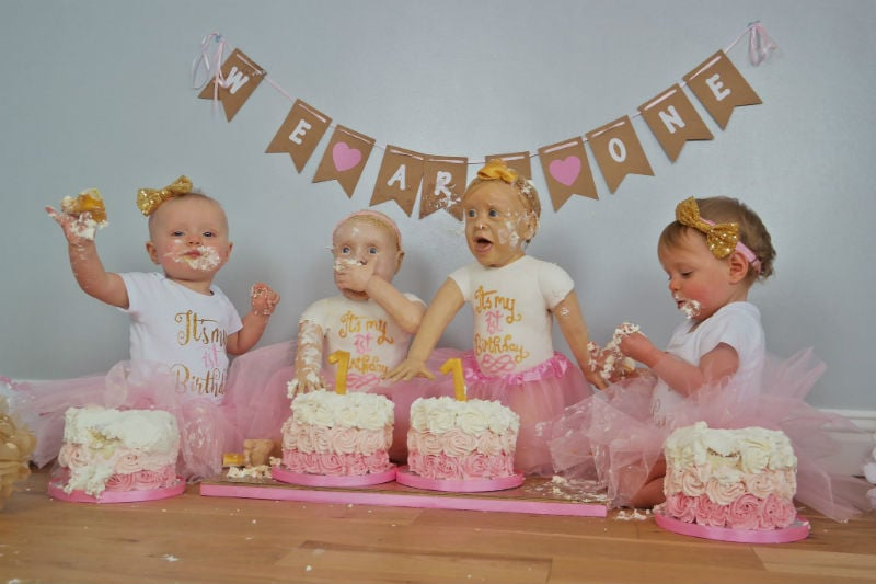 First Birthday Lifelike Baby Cake Smash Popsugar Moms