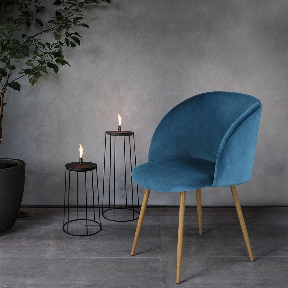 Amazon Midcentury Velvet Chair Set Popsugar Home
