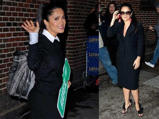 Photos and Video of Salma Hayek on David Letterman January 2009