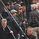 Pictures of Angelina on Set