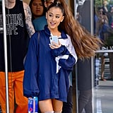Ariana Grande With Pierced, Braided Part in 2018