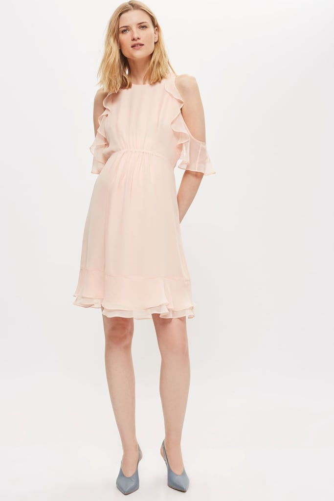 Topshop Maternity Ruffle Cold Shoulder Dress | Best Maternity ...
