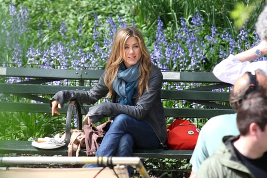 Photos of Jennifer Aniston and Jason Bateman on the Set of The Baster in NYC
