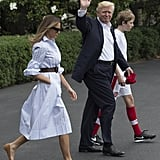 And a Pair of Beige Flats