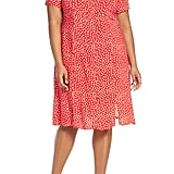 Estelle Adeline Polka Dot Empire Waist Dress