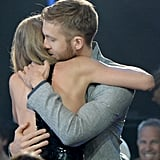 Taylor and Calvin hugged each other tight at this year's iHeartRadio Music Awards, in April. She even have him a sweet shout-out during her speech.
