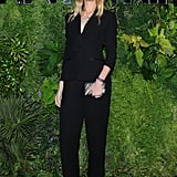 Eva Riccobono looked sleek in a black design for the Vanity Fair event.