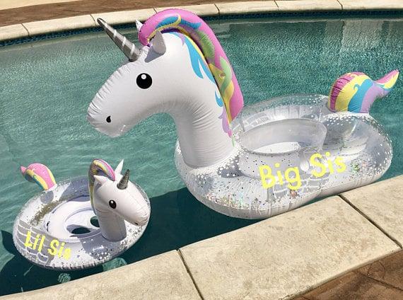 Minnie and Me Unicorn Floats