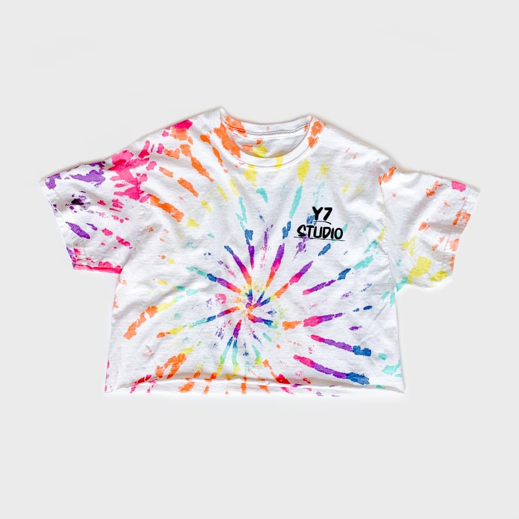 Y7 x American Tye Dye Cropped Pride Tee