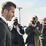 David Beckham Press Conference in Germany