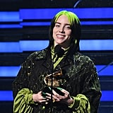 Billie Eilish at the 2020 Grammys