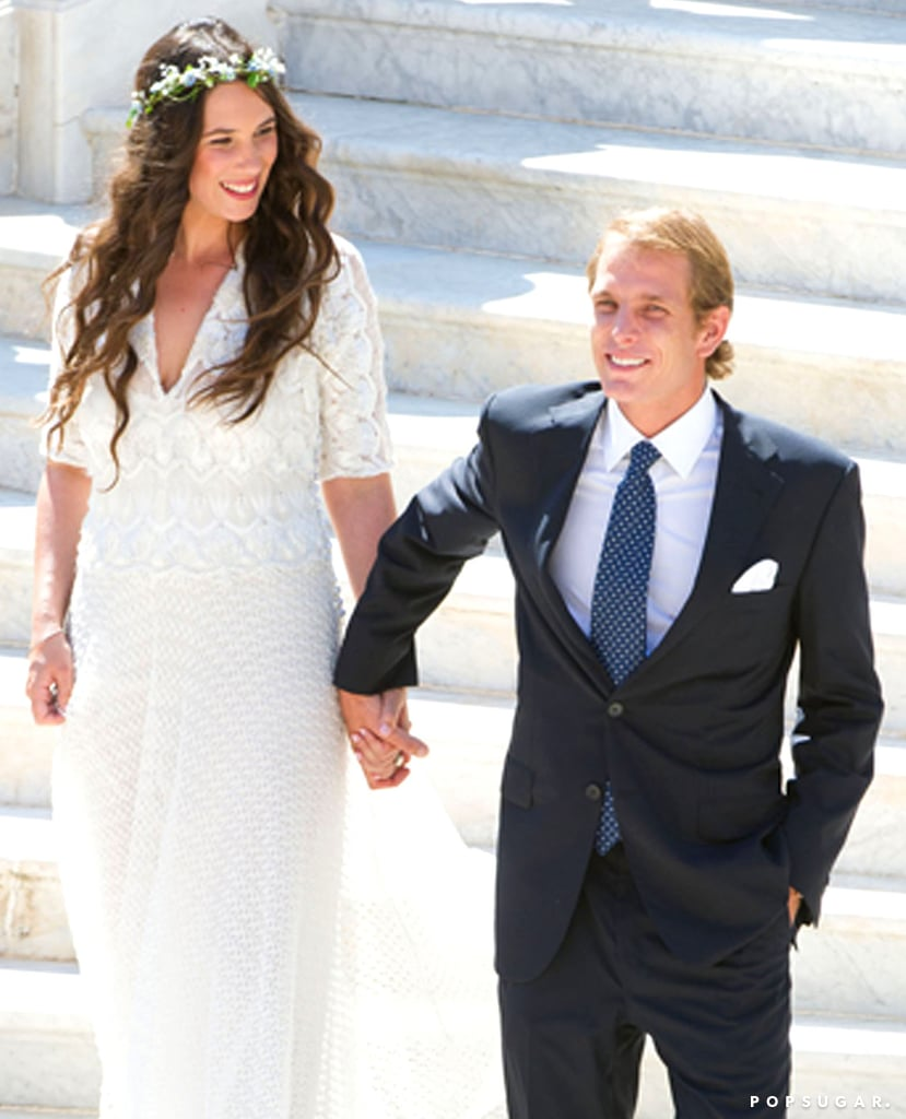 "Andrea Casiraghi and Tatiana Santo Domingo said, ""I do,"" in Monte Carlo on Saturday."