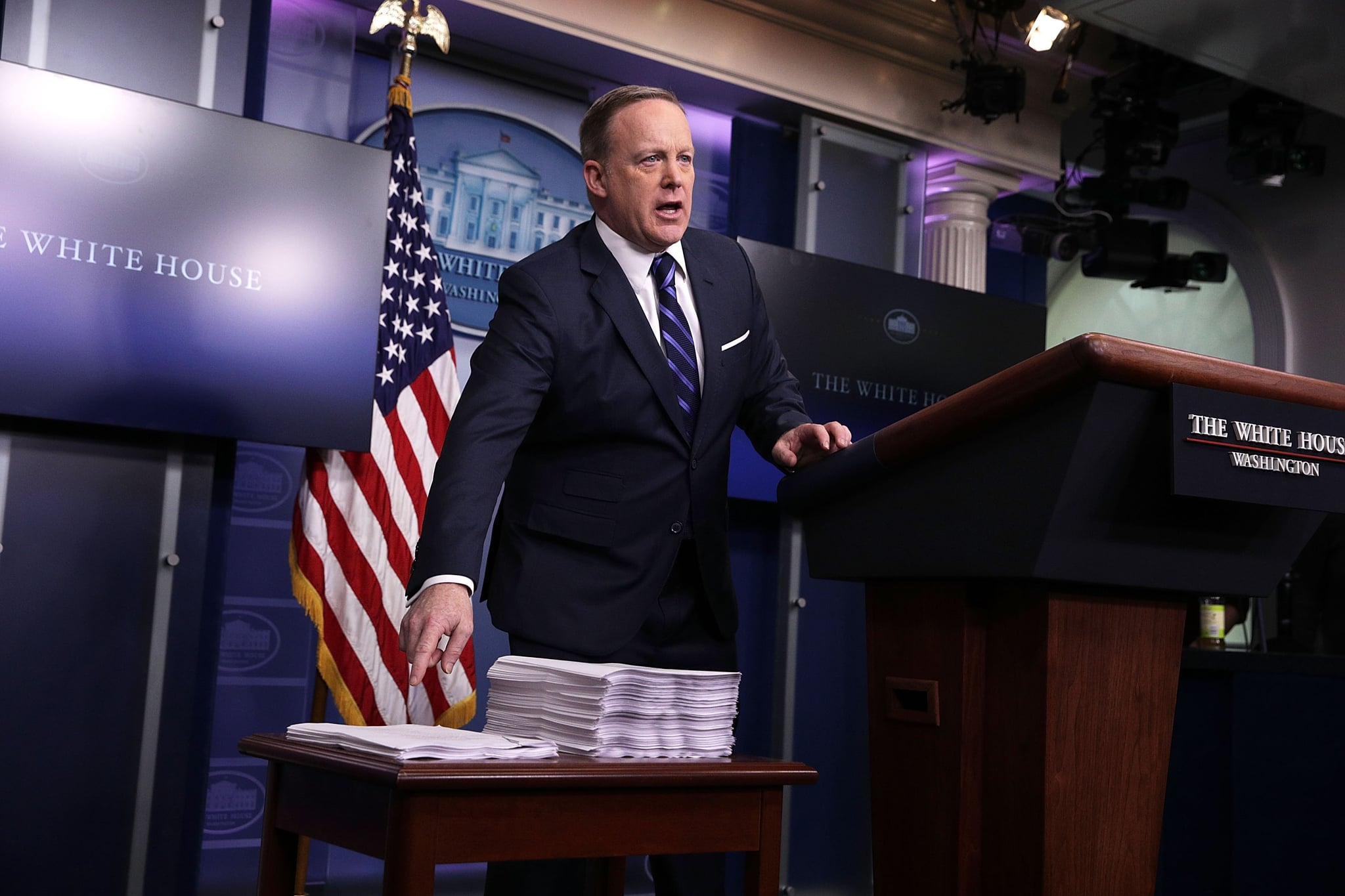 Image result for sean spicer comparing insurance political cartoon