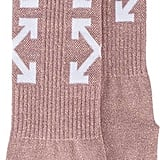Off-White Arrow Glitter Socks