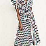 Silvia Tcherassi Roopal Stripe Puff-Sleeve Dress