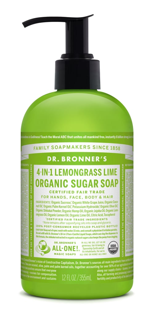 Dr. Bronner's 4-in-1 Lemongrass Lime Organic Sugar Soap