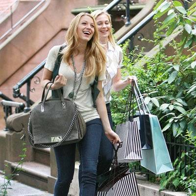 Blake Lively and Kelly Rutherford Film Gossip Girl