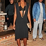 At the Ain't Them Bodies Saints afterparty at the Refinery Hotel, Genevieve Jones played peekaboo in a revealing LBD.