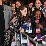 See Kristen Stewart's Black Lace Romper From All Angles