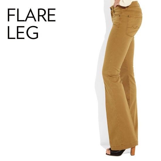 Why we love them: The flare is a universally flattering style, thanks to a wider leg that helps to balance hips and create curves. We also love that it feels ever-so-slightly '70s in the chicest way possible.  How to wear them: First things first, they should skim the ground. Translation: if the fabric is dragging, then it's time to get them hemmed. Adding heels to a pair of flares will lengthen your stems (ever more!), and these styles can be outfitted with both our dressy and casual staples. Source: Net-a-Porter