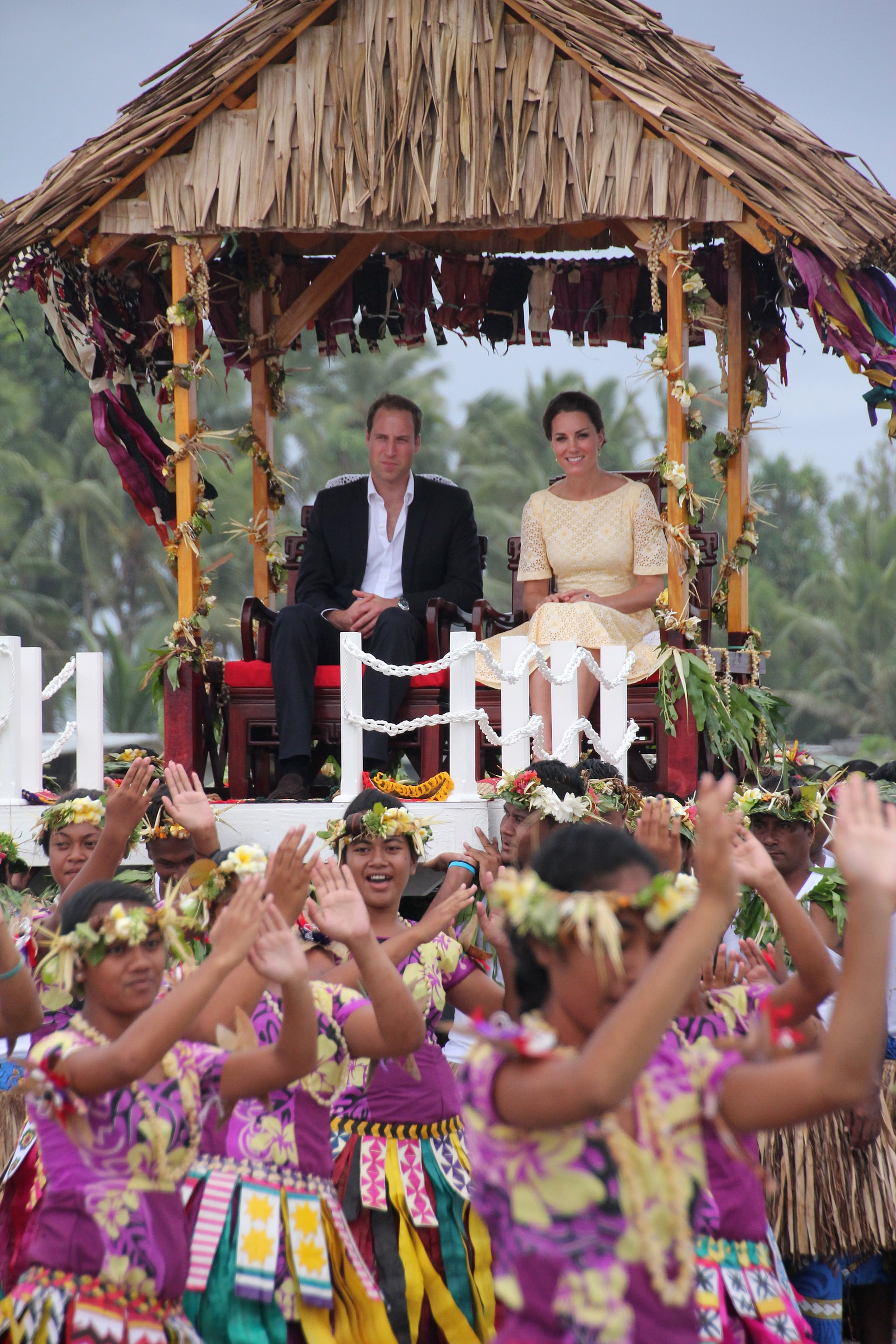 Prince William and Kate arrived in Tuvalu in 2012 by elevated hut.