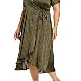 Bobeau Lumi Puff Sleeve Wrap Dress