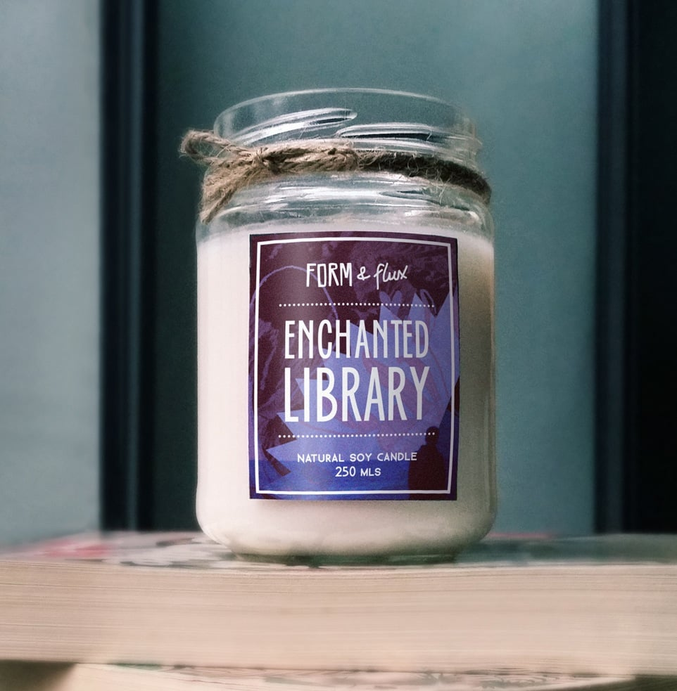 Enchanted Library candle ($15) with vanilla, parchment, honey, and coffee bean notes