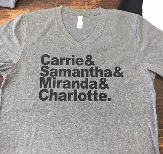 Carrie & Samantha & Miranda & Charlotte Sex and the City T-Shirt