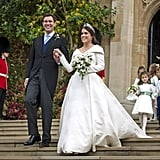Princess Eugenie Jack Brooksbank Wedding Outfit Exhibition