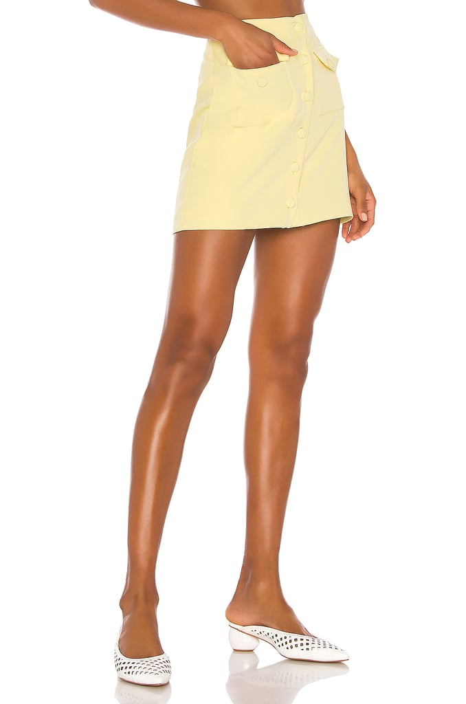 Song of Style Gala Mini Skirt in Citrus Yellow from Revolve.com